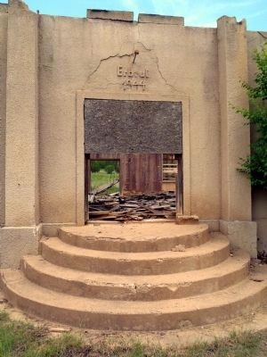 Entrance to Recreation Hall built by German internees in 1944 image. Click for full size.