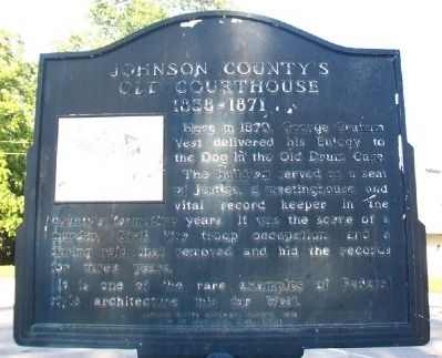 Johnson County's Old Courthouse Marker image. Click for full size.