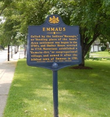 Emmaus Marker image. Click for full size.