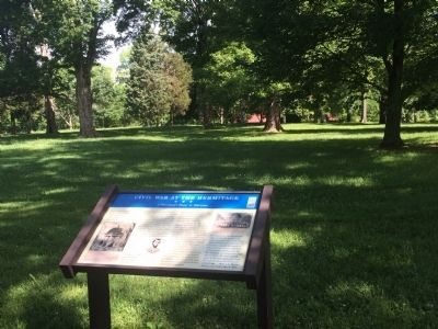 Wide view of the Civil War at The Hermitage Marker image. Click for full size.