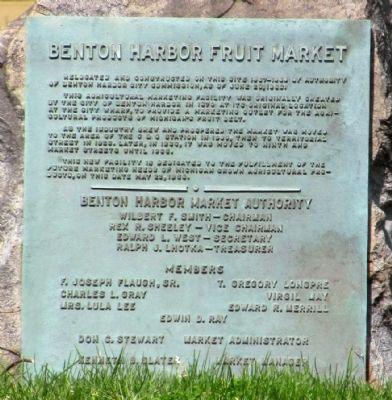Benton Harbor Fruit Market Marker image. Click for full size.