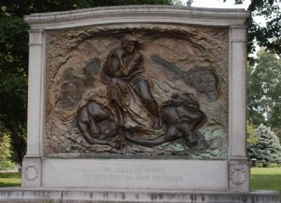 Maine Soldiers and Sailors Memorial Marker image. Click for full size.