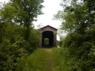 Shoreham Covered Railroad Bridge image. Click for full size.
