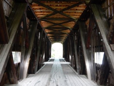 Interior of Shoreham Covered Railroad Bridge image. Click for full size.