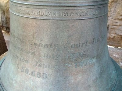 Johnson County Court House Bell image. Click for full size.