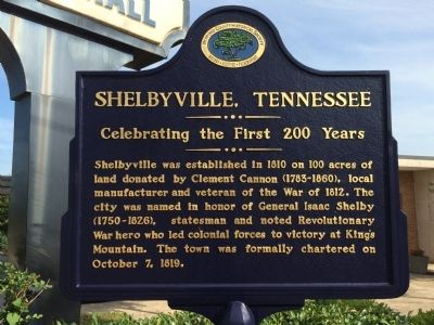 Shelbyville, Tennessee Marker image. Click for full size.