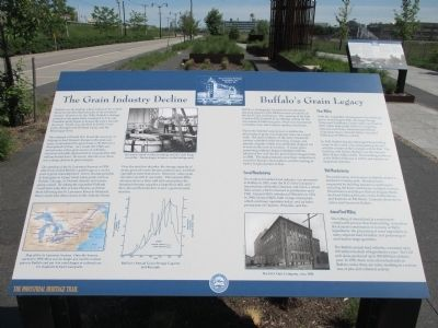 The Grain Industry Decline / Buffalo's Grain Legacy Marker image. Click for full size.