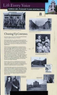 Cleaning Up Cowtown Marker image. Click for full size.