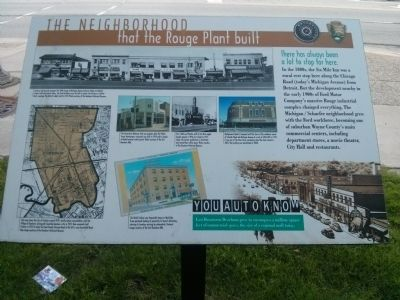The Neighborhood That the Rouge Plant Built Marker image. Click for full size.