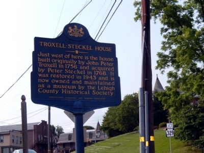 Troxell-Steckel House Marker image. Click for full size.