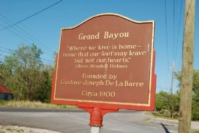 Grand Bayou Marker image. Click for full size.