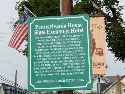 Pennsylvania House Slate Exchange Hotel Marker image. Click for full size.