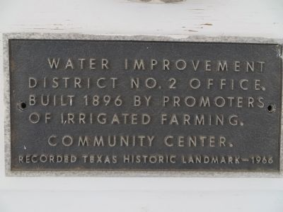 Water Improvement District No. 2 office Marker image. Click for full size.