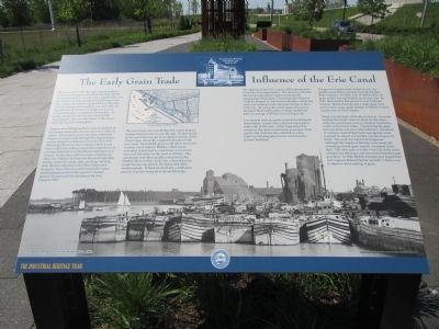 The Early Grain Trade / Influence of the Erie Canal Marker image. Click for full size.