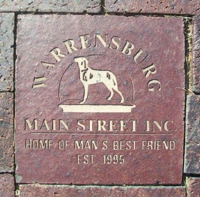 Warrensburg Main Street Paver at Old Drum Memorial image. Click for full size.