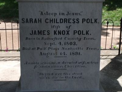 Tomb of James Knox Polk Marker image. Click for full size.