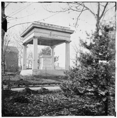 Tomb of James Knox Polk at Polk Place. image. Click for full size.