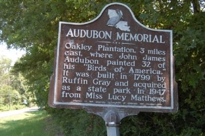 Audubon Memorial Marker image. Click for full size.