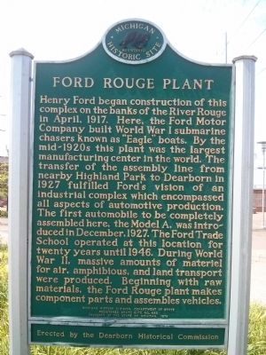Ford Rouge Plant Marker image. Click for full size.