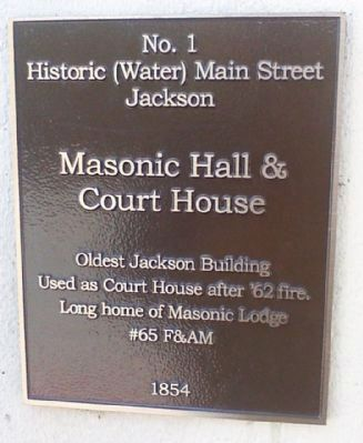 Masonic Hall & Court House Marker image. Click for full size.