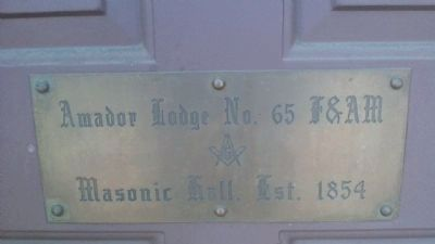 Masonic Hall Sign on the Door image. Click for full size.
