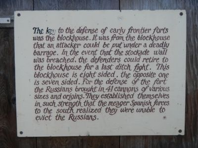 Fort Ross Defenses Marker image. Click for full size.