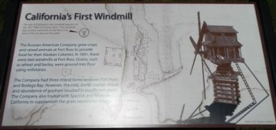 California's First Windmill Marker image. Click for full size.