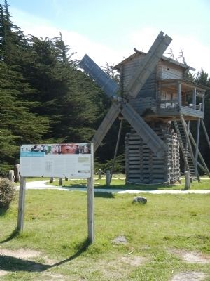 re-creating the Fort Ross Windmill Marker image. Click for full size.