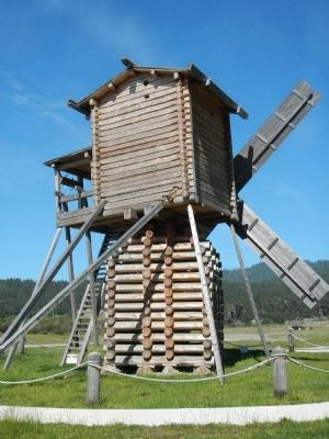 Re-creation of the Fort Ross Windmill image. Click for full size.