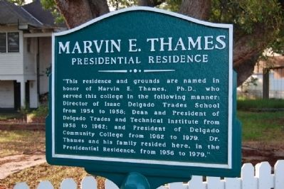 Marvin E. Thames Marker image. Click for full size.