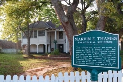 Marvin E. Thames home and Marker image. Click for full size.