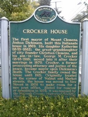 Crocker House Marker image. Click for full size.
