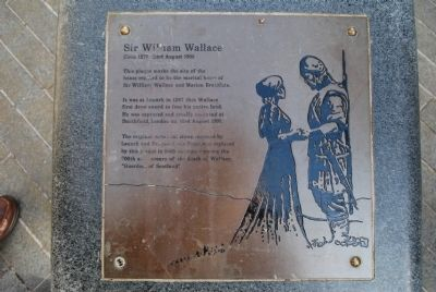 Sir William Wallace Marker image. Click for full size.