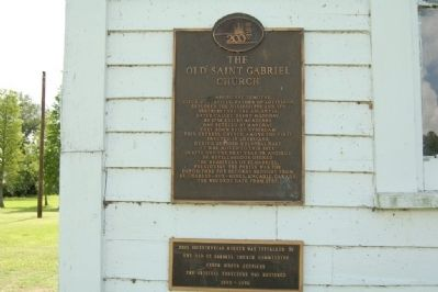 The Old Saint Gabriel Church Marker image. Click for full size.