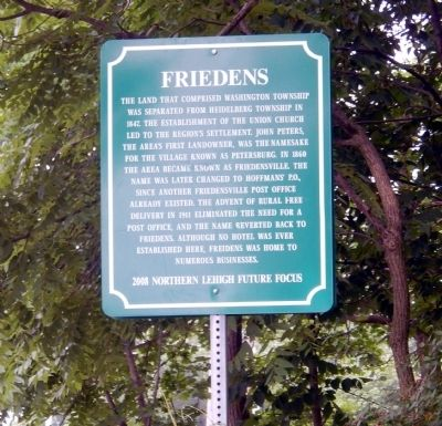 Friedens Marker image. Click for full size.