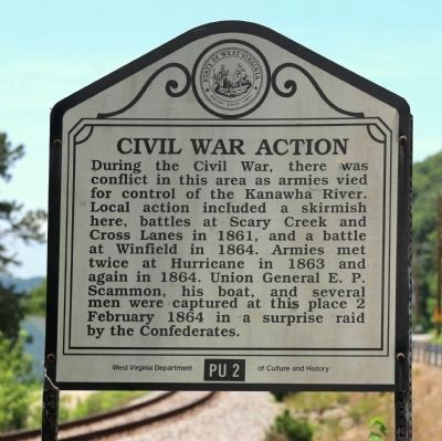 Civil War Action Face of Marker image. Click for full size.