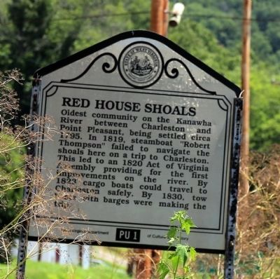 Red House Shoals Face of Marker image. Click for full size.