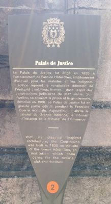 Palais de Justice Marker image. Click for full size.