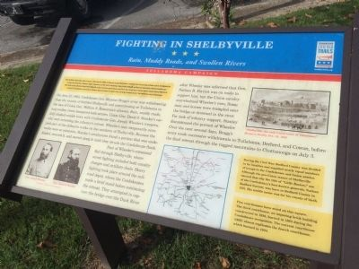Fighting in Shelbyville Marker image. Click for full size.