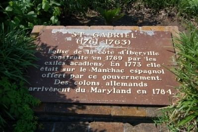 St - Gabriel Marker image. Click for full size.