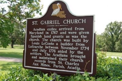 St. Gabriel Church Marker image. Click for full size.