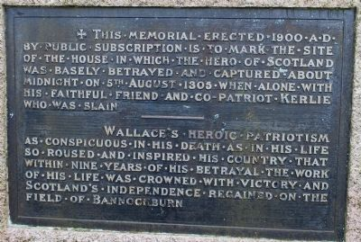 William Wallace Betrayal & Capture Memorial image. Click for full size.