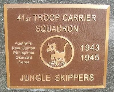 41st Troop Carrier Squadron Marker image. Click for full size.