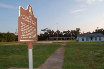 The Ascension Parish Negro Fair Association, Inc. Marker and grounds image. Click for full size.