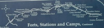 Forts, Stations, and Camps map, detail from panel 2 image. Click for full size.