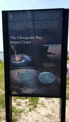 The Chesapeake Bay Impact Crater Marker image. Click for full size.