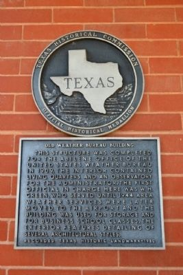 Old Weather Bureau Building Marker image. Click for full size.