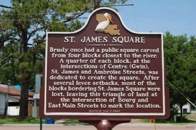 St. James Square Marker (side 2) image. Click for full size.