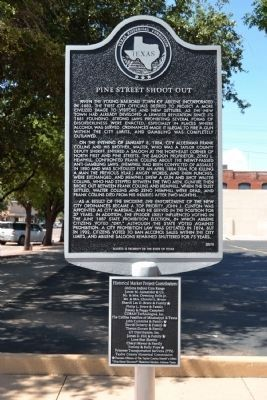 Pine Street Shootout Marker image. Click for full size.