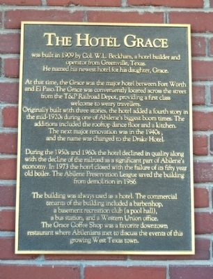 The Hotel Grace Marker image. Click for full size.